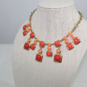 Gold and Orange Dangling Necklace